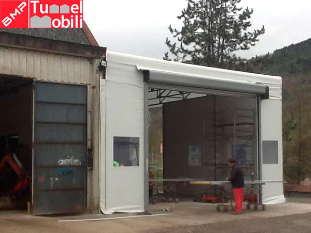 accessori e particolari per capannoni mobili in Liguria e Asti e Alessandria